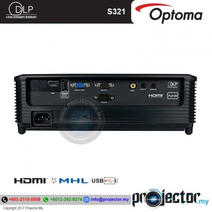 OPTOMA S341 3500 LUMENS SVGA PROJECTOR