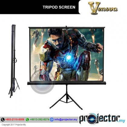 "Venova Tripod Screen 70"" X 70"" (6' X 6') Matt White"