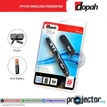 Dopah PP-1100 Wireless Presenter With Laser Pointer