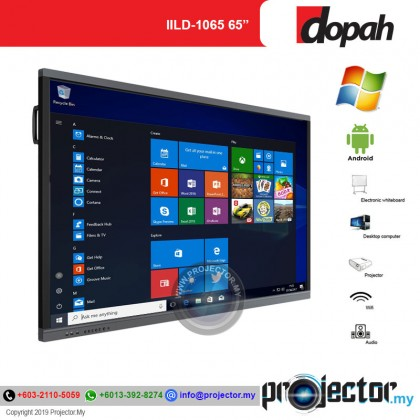 """Dopah ILD-1065 65"""" Multi Touch All-In-One Interactive LED Display"""