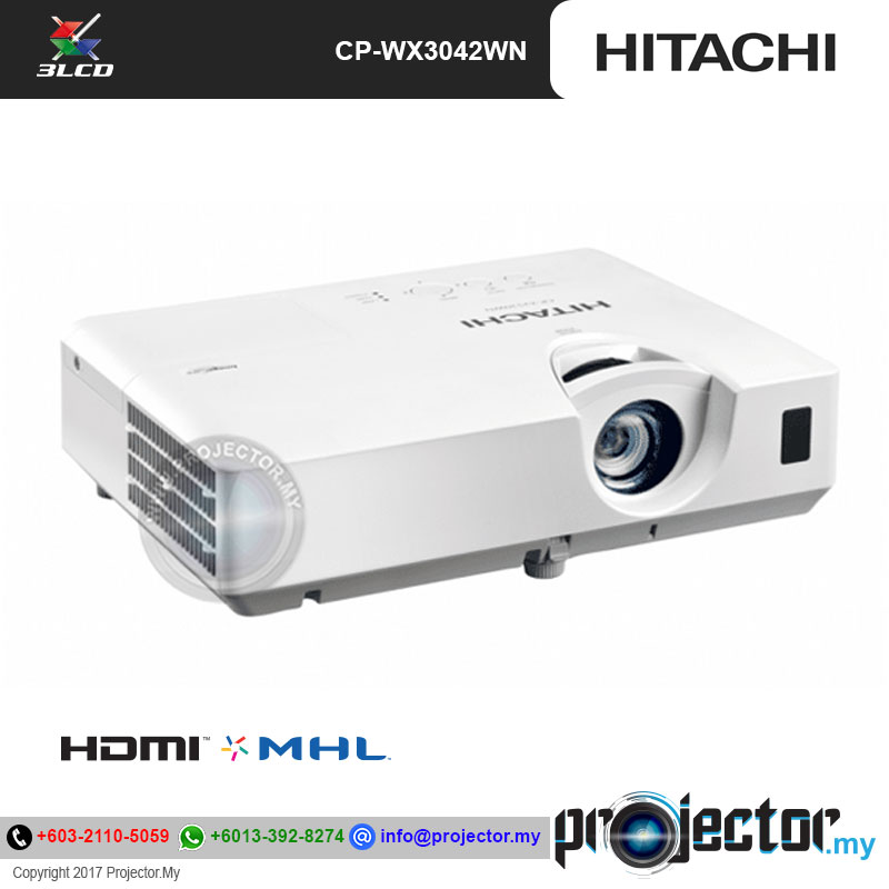 Hitachi Cp Wx3042wn Wxga Projector
