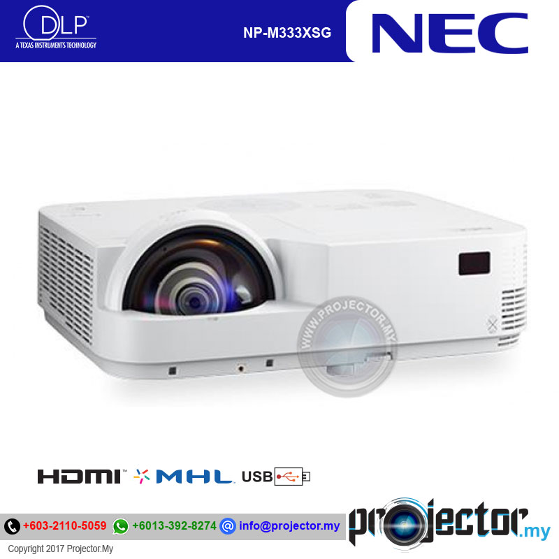 Nec Np M333xsg Short Throw Projector